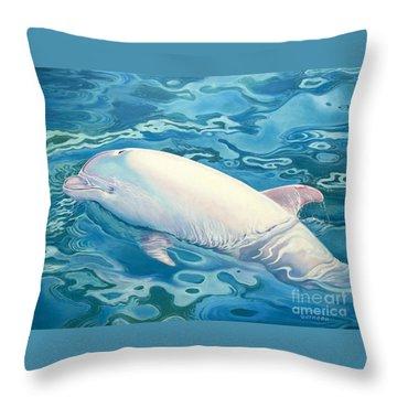 Angel Of Taiji Throw Pillow by Catherine Garneau
