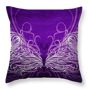 Angel Wings Royal Throw Pillow by Angelina Vick