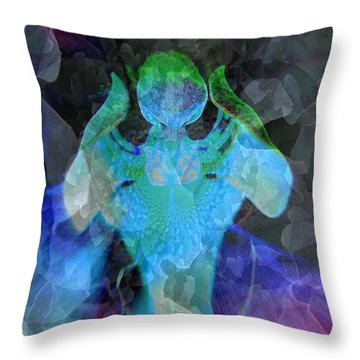 Angelic Descent Throw Pillow by Shirley Sirois