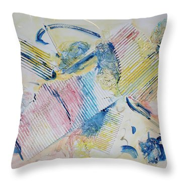 Angels Lingering Throw Pillow by Asha Carolyn Young