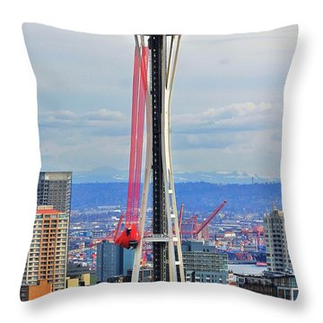Angry Birds Needle Throw Pillow by Benjamin Yeager