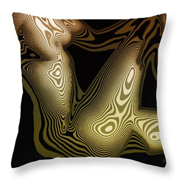 Animal Magnetism Throw Pillow by Donna Blackhall