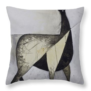 Animalia Standing Llama  Throw Pillow by Mark M  Mellon