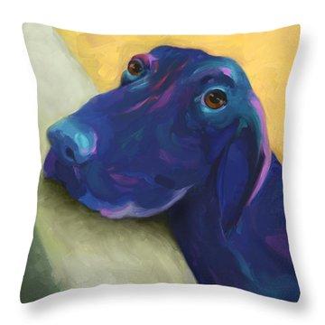 Animals Dogs Labrador Retriever Begging Throw Pillow by Ann Powell