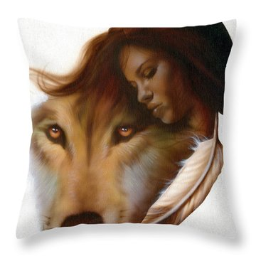 Animism  Throw Pillow by Luis  Navarro