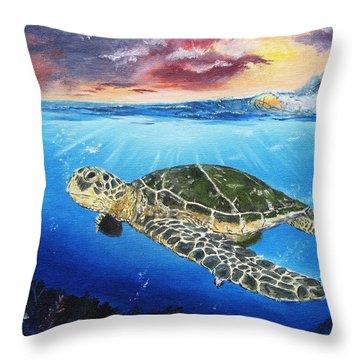Anita Elise Throw Pillow by Kevin F Heuman