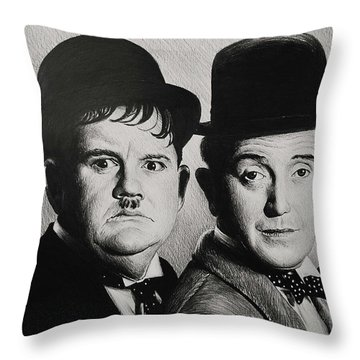 Another Fine Mess Throw Pillow by Andrew Read