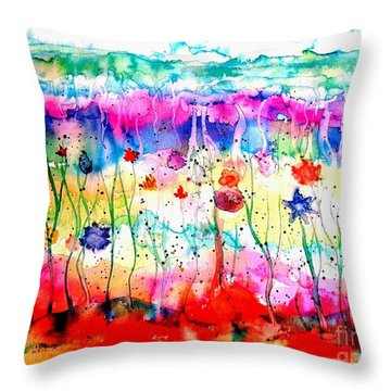 Another World Throw Pillow by Hazel Holland