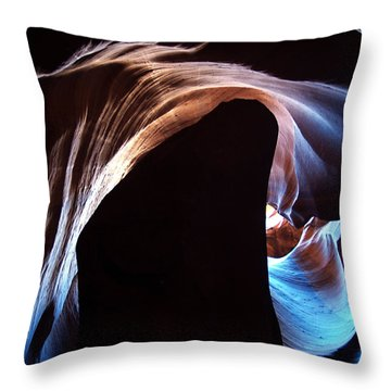 Antelope Canyon 09 Throw Pillow by Jeff Brunton