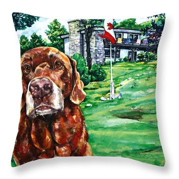 Anticipation Throw Pillow by Derrick Higgins