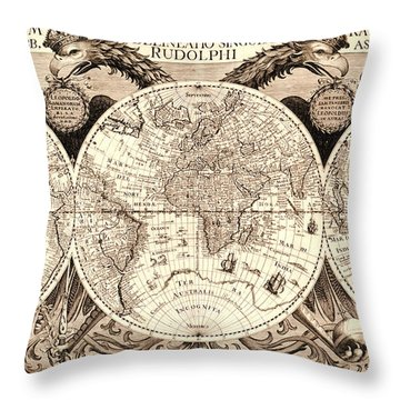 Antique Astronomical Map Throw Pillow by Gary Grayson