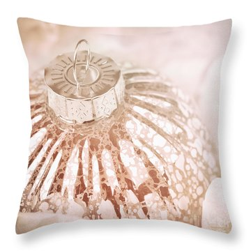 Antique Glass Christmas Tree Bauble Throw Pillow by Jane Rix