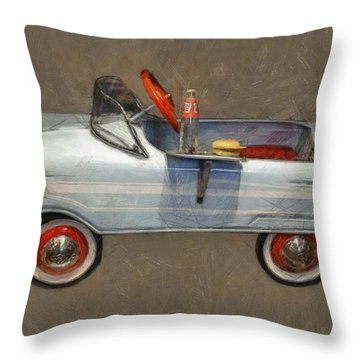 Antique Pedal Car Lv Throw Pillow by Michelle Calkins