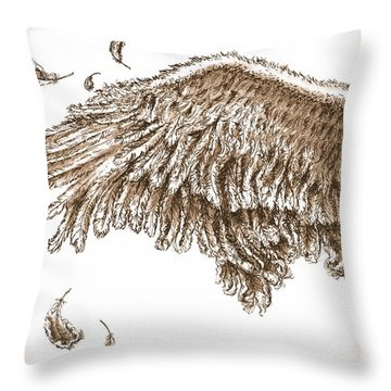 Antiqued Wing Throw Pillow by Adam Zebediah Joseph