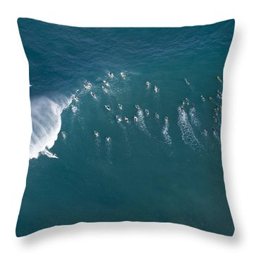 Ants Nest Throw Pillow by Sean Davey