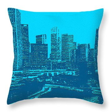Anywhere Usa In Relief Throw Pillow by Bob and Nadine Johnston