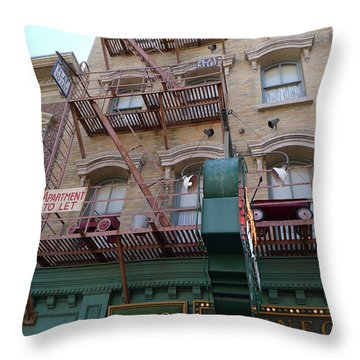 Apartment To Let At Finnegans Throw Pillow by Richard Reeve