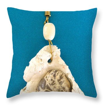 Aphrodite Earring Throw Pillow by Augusta Stylianou