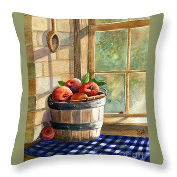Apple Harvest Throw Pillow by Marilyn Smith