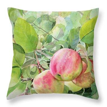 Apple Pie Throw Pillow by Kris Parins