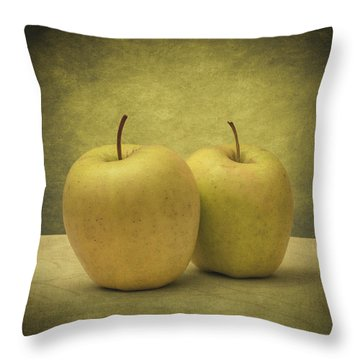 Apples Throw Pillow by Taylan Soyturk