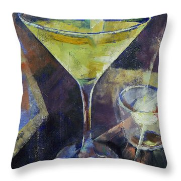 Appletini Throw Pillow by Michael Creese