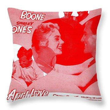 April Love Throw Pillow by Mel Thompson