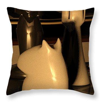 Arabian Mate Throw Pillow by James Barnes