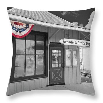 Arcade And Attica Depot Throw Pillow by Guy Whiteley