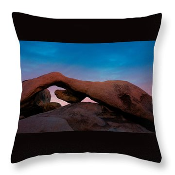 Arch Rock Evening Throw Pillow by Stephen Stookey