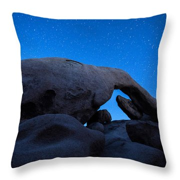 Arch Rock Starry Night 2 Throw Pillow by Stephen Stookey