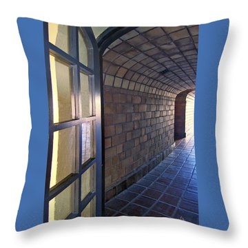 Archway In Mission Inn Riverside Throw Pillow by Ben and Raisa Gertsberg