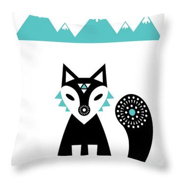 Arctic Fox Throw Pillow by Susan Claire