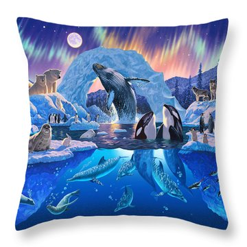 Arctic Harmony Throw Pillow by Chris Heitt