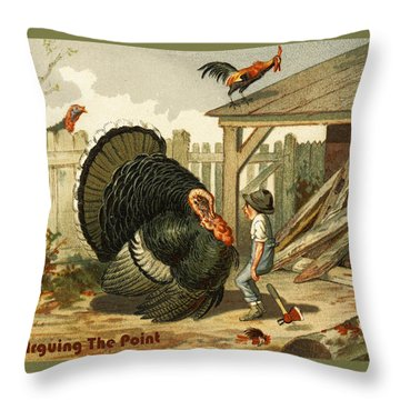 Arguing The Point Throw Pillow by Unknown