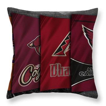 Arizona Sports Teams Throw Pillow by Joe Hamilton