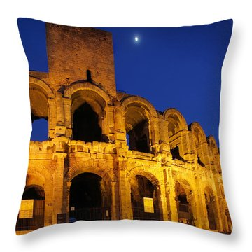 Arles Roman Arena Throw Pillow by Inge Johnsson