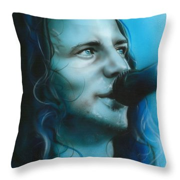 Eddie Vedder - ' Arms Raised In A V ' Throw Pillow by Christian Chapman Art