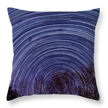 Arnold Startrails Throw Pillow by Benjamin Reed