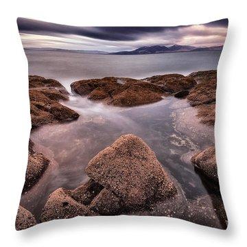 Arran At Sunset Throw Pillow by John Farnan