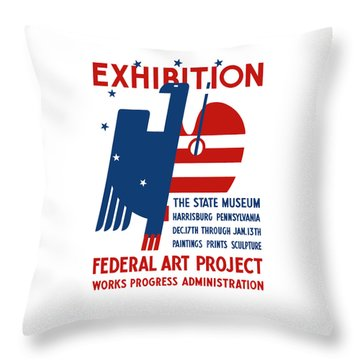 Art Exhibition The State Museum Harrisburg Pennsylvania Throw Pillow by War Is Hell Store