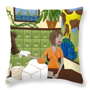 Art For The Office Throw Pillow by Christy Beckwith