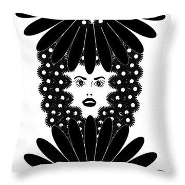 Art Nouveau Design 453 Throw Pillow by Frank Tschakert