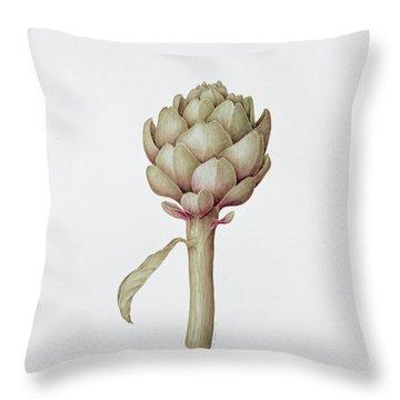 Artichoke Throw Pillow by Diana Everett