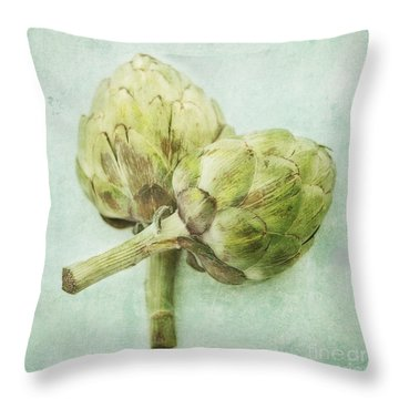 Artichokes Throw Pillow by Priska Wettstein