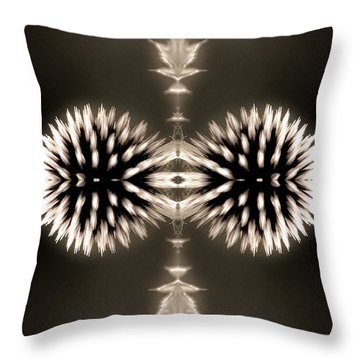 Artistic Flower Abstract Throw Pillow by Don Johnson