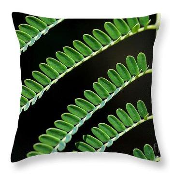 Artsy Green Throw Pillow by Sabrina L Ryan