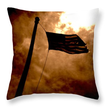 Ascend From Darkness Throw Pillow by Paulo Guimaraes