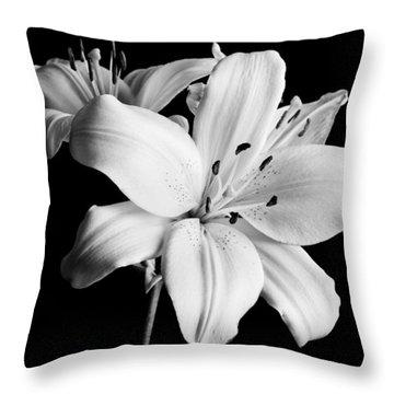 Asian Lilies 1 Throw Pillow by Sebastian Musial