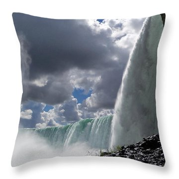 Aside Horseshoe Falls Throw Pillow by Katie Beougher